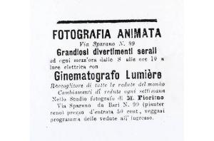II primo cinematografo a Bari di alfredo giovine
