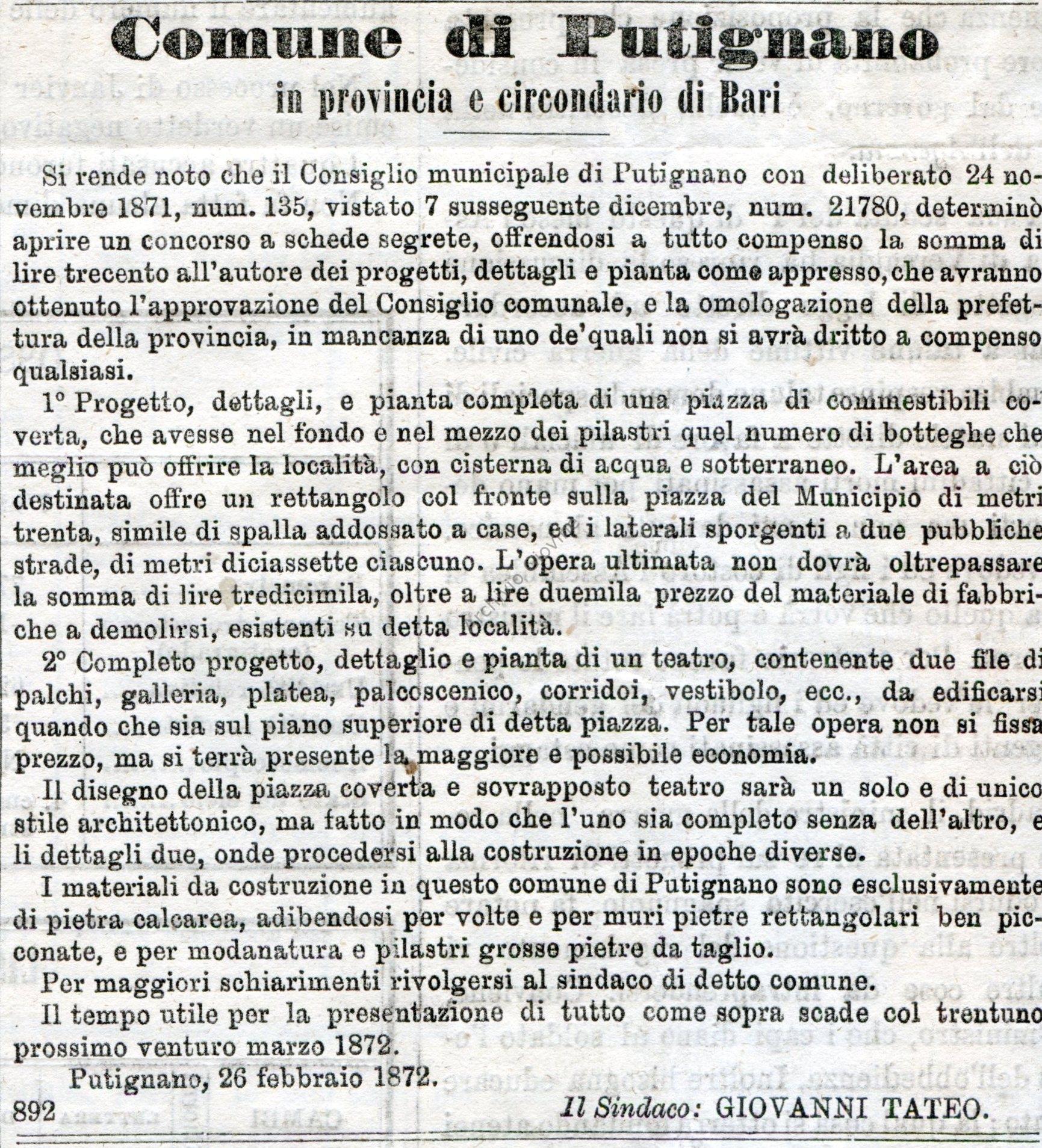 05.03.1872 Putig Gazzetta Ufficiale
